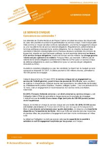 Icon of Fiche argumentaire : le service civique