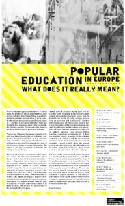 Icon of L'éducation populaire en Europe - Popular education in Europe : what does it really mean?